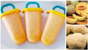 Mézes sárgadinnye jégkrém készítése házilag