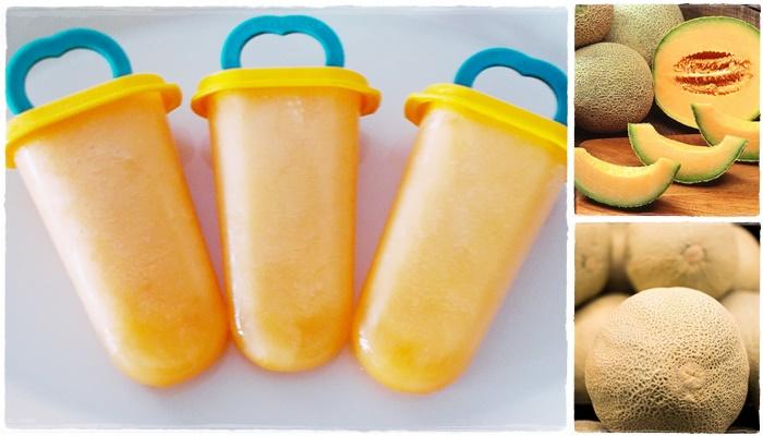 Mézes sárgadinnye jégkrém készítése