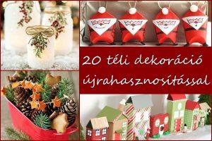 20 téli dekoráció újrahasznosítással