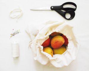 Textilzsák varrása – műanyag zacskók helyett, avagy egy kis segítség a műanyagmentes júliushoz