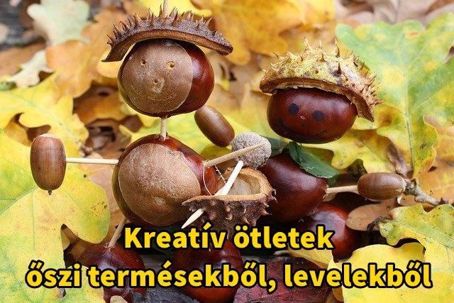Kreatív ötletek őszi termésekből, levelekből